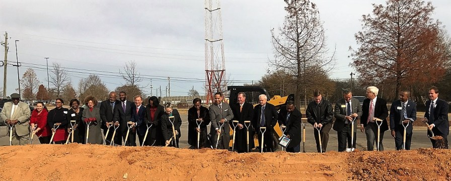 Donors and board members, including the Alabama Power Foundation, broke ground on the new Walter Howlett Jr. Clubhouse for the A.G. Gaston Boys and Girls Club. (Michael Tomberlin / Alabama NewsCenter)