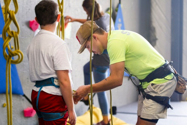 GadRock offers various climbs of different difficulties, including classes on lead climbing, belaying and bouldering. (Justin Averette/Shorelines)