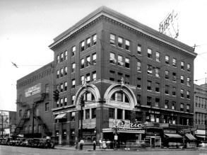 The Lyric Theatre in Birmingham in 1930. The venue opened in 1914 and was among the first theaters to allow African-Americans to attend films. (From Encyclopedia of Alabama, photo courtesy of the Birmingham Public Library)