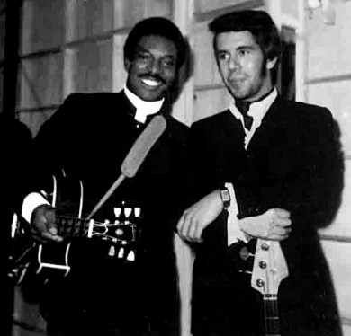 Wilson Pickett and Pino Presti during The European Tour, 1970. (Gatti GP, Wikipedia)