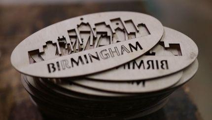 Another Maxcy custom creation in bulk order features Birmingham prominently. (Joe Allen)