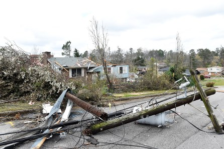 Storm damage following an EF-3 tornado that swept through east Alabama in March 2018. (file)