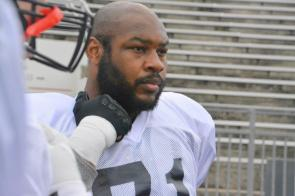Birmingham Iron defensive tackle Josh Frazier at training camp. (contributed)