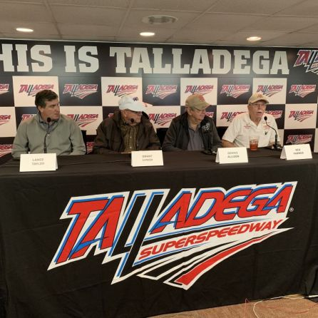 From left to right: Lance Taylor (President, Taylor Corporation - which is overseeing the entire infield project); Grant Lynch (Chairman, Talladega Superspeedway); and legendary drivers Donnie Allison and Red Farmer. (Dennis Washington)
