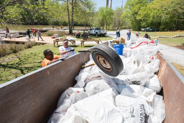 Castoff tires are a common item found in and around Alabama's waterways. (file)