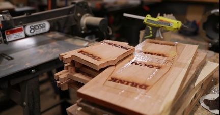 Alabama cutting boards await their new owners. (Joe Allen)