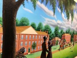 A group of nine murals by artist Dean Mosher commemorates Alabama's bicentennial. (Dan Bynum/Alabama NewsCenter)