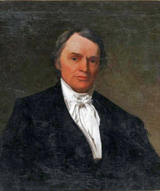 Lawyer and politician Robert Baylor (1793-1874) is best known as the founder of Baylor University in Waco, Texas. Prior to that, however, he represented Alabama for one term in the U.S. Congress. This portrait, painted around 1877, is attributed to Henry A. McArdle. ((From Encyclopedia of Alabama, photo used by permission of the Texas Collection, Baylor University)