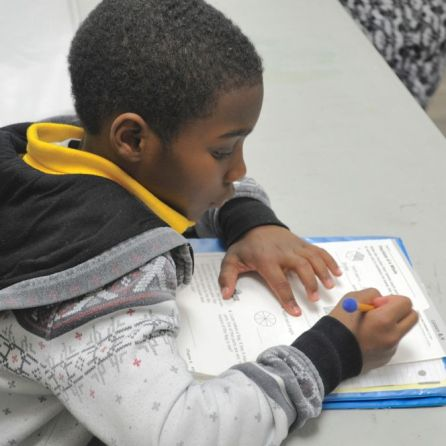 Preparing the students for success through fundamental learning principles is a key to Common Ground Montgomery's success. (Karim Shamshi-Basha)