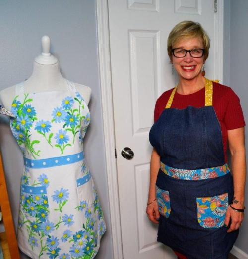 Kyle Wick in her timbletreestudio sewing room in Homewood. (Michael Tomberlin / Alabama NewsCenter)