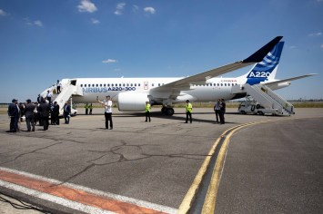 The Airbus A220 single-aisle aircraft will soon be built in Alabama. (Christophe Morin/Bloomberg)