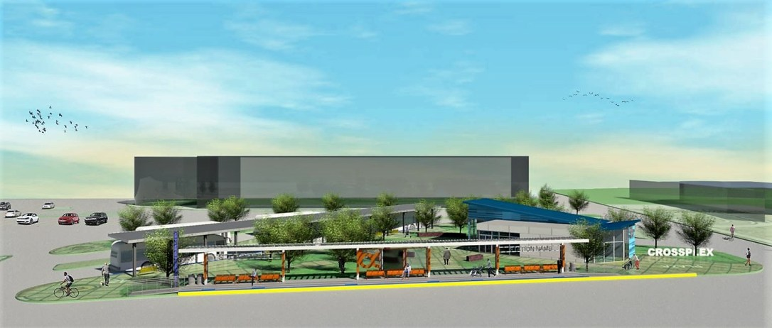 A new Five Points West Transit Center will be built on the site of a city parking deck near the CrossPlex. (Birmingham Xpress)
