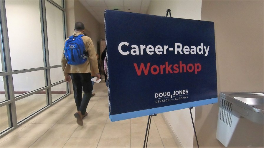 A career-ready workshop was part of the inaugural HBCU Summit at Lawson State Community College. (Dennis Washington/Alabama NewsCenter)