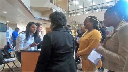 A job fair was part of the inaugural HBCU Summit at Lawson State Community College. (Dennis Washington/Alabama NewsCenter)