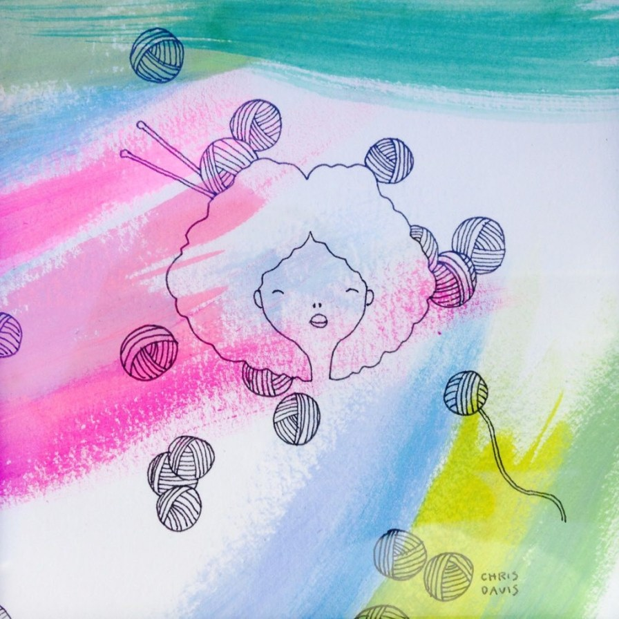 Examples of Davis' artwork are unique and colorful. (Chris Davis)