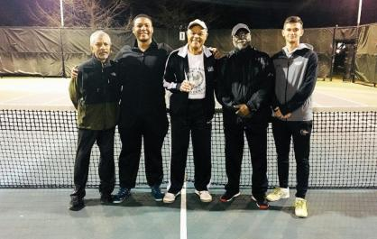 George Ward Tennis Center coaches are, from left, Joseph Collins, Gerald Craig, Rudy Lewis, Nathan Echols and Stepan Vancurik. (contributed)