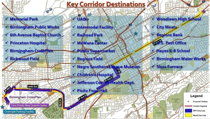 The Birmingham Xpress route will take it by some popular destinations and large employers. (Birmingham Xpress)