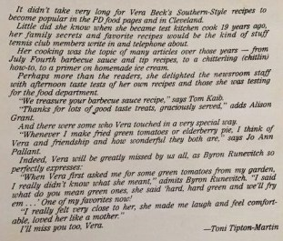 "Toni Tipton-Martin, former Cleveland Plain Dealer food editor and author of the ""Jemima Code,"" wrote this in the ""Vera Beck Cookbook."" (Bob Blalock / Alabama NewsCenter)"