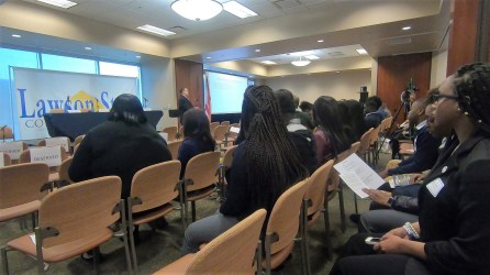 Students attend the inaugural HBCU Summit at Lawson State Community College. (Dennis Washington/Alabama NewsCenter)