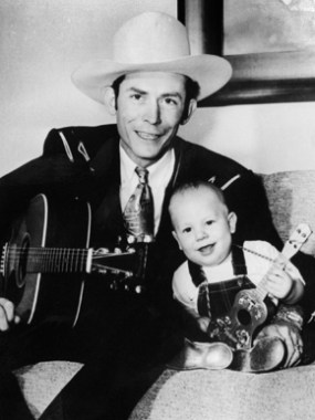 Hank Williams Sr. and Hank Williams Jr., c. 1950. Hank Williams Jr. was born to Hank and Audrey Williams on May 26, 1949, in Shreveport, Louisiana. At 8 years of age, Hank Jr. was touring, playing his father's songs, and at age 11 he made his first appearance at the Grand Ole Opry. (From Encyclopedia of Alabama, courtesy of Hank Williams Boyhood Home/Museum)