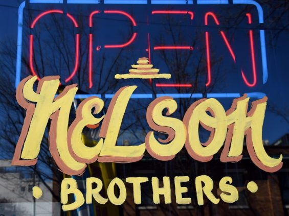 The sign for the Nelson Brother's Cafe is shown in the 4th Avenue District. (Mark Almond)