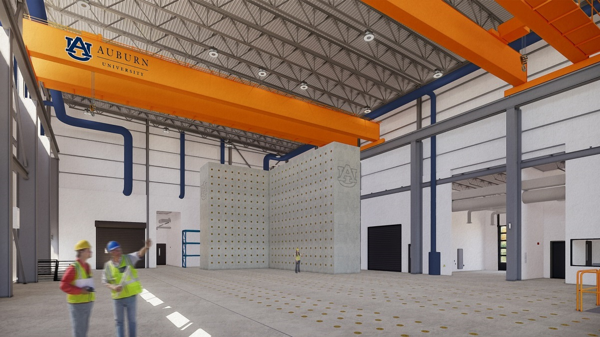 Auburn University constructing $22 million Advanced Structural Testing Laboratory
