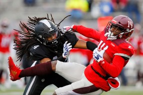 SS Joe Powell lays a big hit on a Commanders wide receiver. (Getty Images/The AAF)