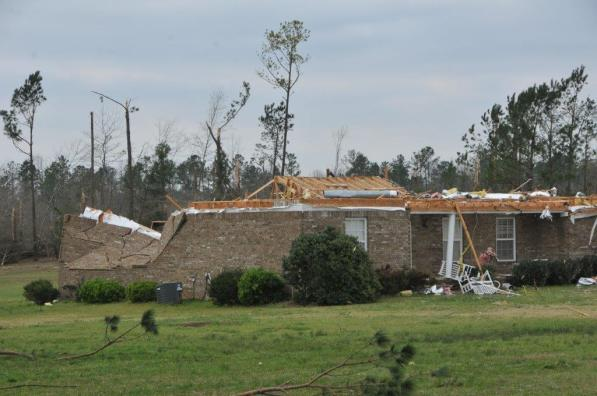 The destruction left by the March 3 Lee County tornadoes is massive, but so has been the response from those looking to help the survivors. (Billy Brown / Alabama NewsCenter)
