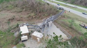 A look from high above at storm damage in Lee County. (Steve Dunlap)