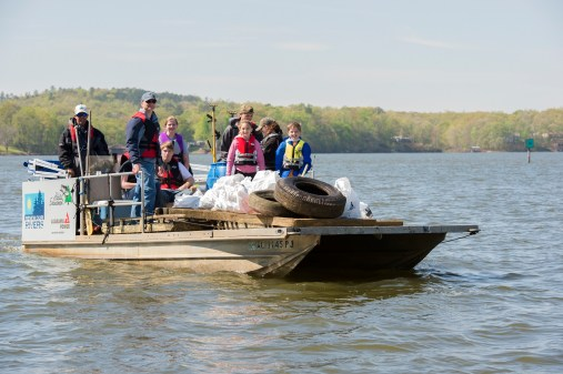 In 20 years, Renew Our Rivers volunteers have removed more than 15.5 million pounds of trash from waterways. (file)