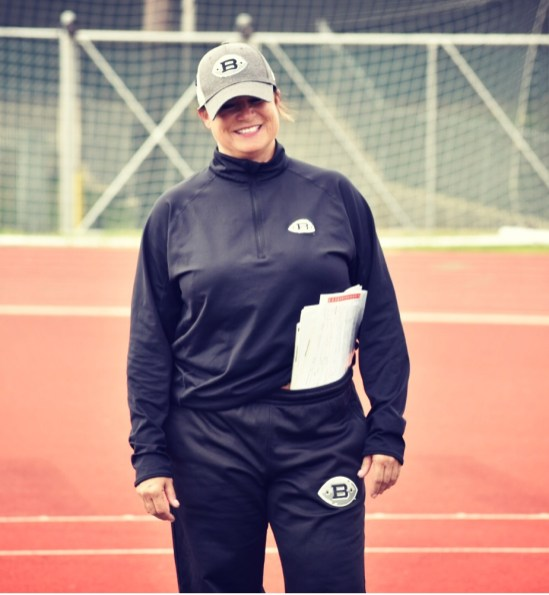 Lori Locust fit in well with the Birmingham Iron coaches and players, Head Coach Tim Lewis says. (AAF)