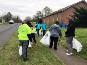 Hundreds turned out this past weekend for the Renew Our Rivers cleanup of Valley Creek. Volunteers in multiple locations cleaned up the waterway as well as the watershed areas to prevent trash from making it to the waterway. (Michael Sznajderman / Alabama NewsCenter)