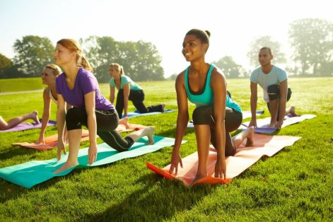 Yoga class at the Alys Stephens Center is one Indiafest offering. (Contributed)