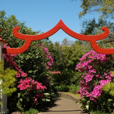 The American-Asian Garden combines elements of Chinese and Japanese gardens. (Bellingrath Gardens)