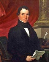 This portrait of Selma native and future vice president William Rufus King was painted in 1839 by George Cooke. A noted portraitist, Cooke was a favorite of Alabama industrialist Daniel Pratt, who built a special gallery attached to his home just to house Cooke's paintings. (From Encyclopedia of Alabama, photo courtesy of the Philanthropic Society, Phi Hall, University of North Carolina, Chapel Hill)