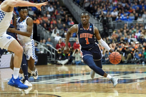Jared Harper helped lead the Auburn Tigers to a 77-71 overtime win over Kentucky to advance to the Final Four. (Wade Rackley /Auburn Athletics)