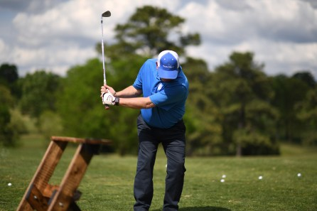 Golfers from Birmingham-area companies enjoyed the chance to compete in the Chick-fil-A Corporate Challenge and do some good for the Redemptive Cycles charity. (Chris Jones/Alabama NewsCenter)
