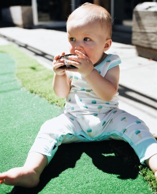 """Carter O'Hara, son of Big Spoon Creamery owners Ryan and Geri-Martha O'Hara, is a big fan of the """"sammies"""" ice cream sandwiches. (contributed)"""