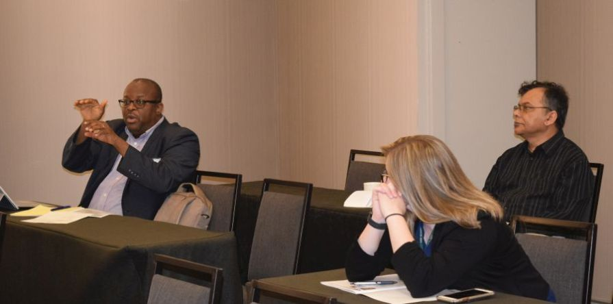 Dialogue and information-sharing are hallmarks of UAB's Health Disparities Symposium. (Donna Cope/Alabama NewsCenter)