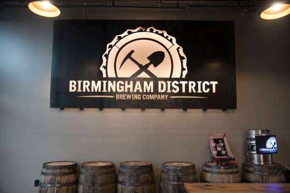 Birmingham District Brewing Co. gives a nod to the blue-collar workers from Birmingham's days as a steel town. (Brittany Faush/Alabama NewsCenter)