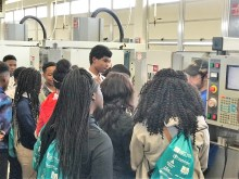 Students got hands-on exposure to potential careers at Central AlabamaWorks' Career Discovery in Montgomery. (Michael Tomberlin / Alabama NewsCenter)