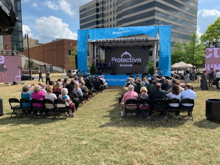 The BJCC announces its new multi-purpose stadium in downtown Birmingham will be named Protective Stadium. (Dennis Washington / Alabama NewsCenter)