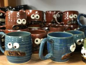Chad Nelson made mugs with funny faces on them in a high school ceramics class, but he didn't begin to consider it a potential business until after he studied architecture at Auburn University. (Michael Tomberlin/Alabama NewsCenter)
