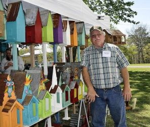 Colorful birdhouses will liven up the yard. (Contributed)
