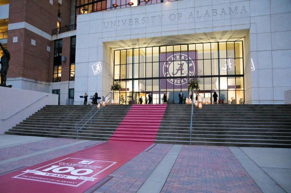 The Culverhouse Centennial Gala was held in March at The Zone in Bryant-Denny Stadium. (University of Alabama)