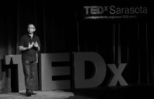 Dr. Julian Maha delivers a TEDTalk on KultureCity. (KultureCity)