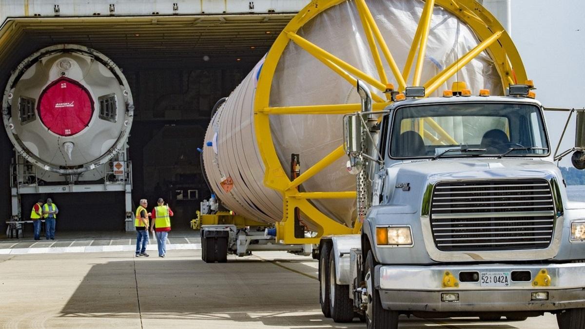 Atlas V rocket departs Alabama factory for historic crewed mission
