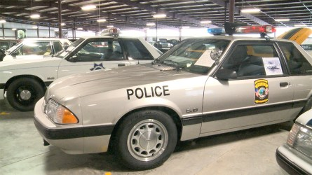 Ford Mustangs were used as law enforcement vehicles across more than two dozen states, including the city of Trussville, Alabama. (Dennis Washington / Alabama NewsCenter)