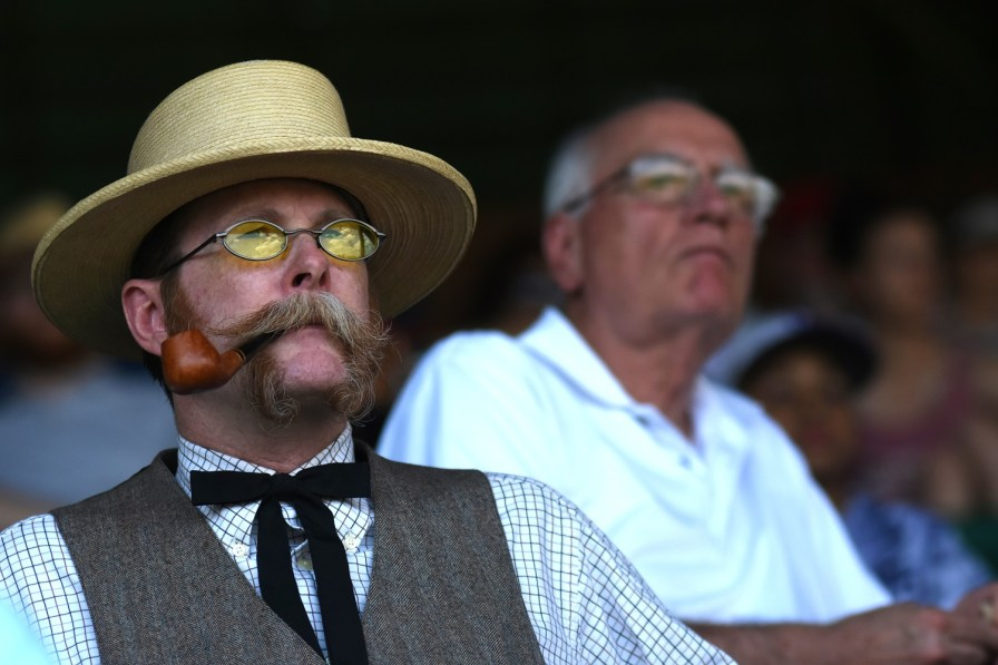 David Bowman, part of the Birmingham Historic Touring Company, is dressed for the occasion. (Solomon Crenshaw Jr./Alabama NewsCenter)