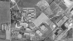 Aerial image of Wallace Community College, 1998. (USGS, Wikipedia)